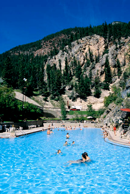 Natural hot springs pool at Radium Hot Springs.
