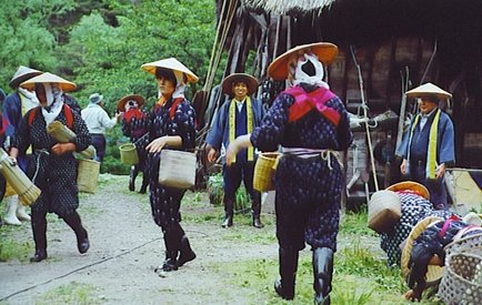 Villagers in typical dress