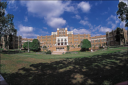 Now a national historical site, Central High School is the site of the 1957 Civil Rights confrontation