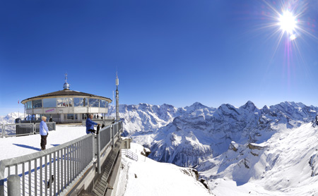 Terrace on top of the Schilthorn Mountain. Photo courtesy of Sandy Zimmerman