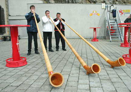 Mt. Pilatus- Alphorn group; Photo by Sandy Zimmerman