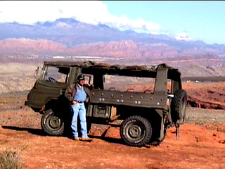 Australian Pinzgauer Jeep used in the ATV & Jeep Wilderness Tours.